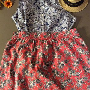 Tommy Hilfiger Paisley Mini Skirt